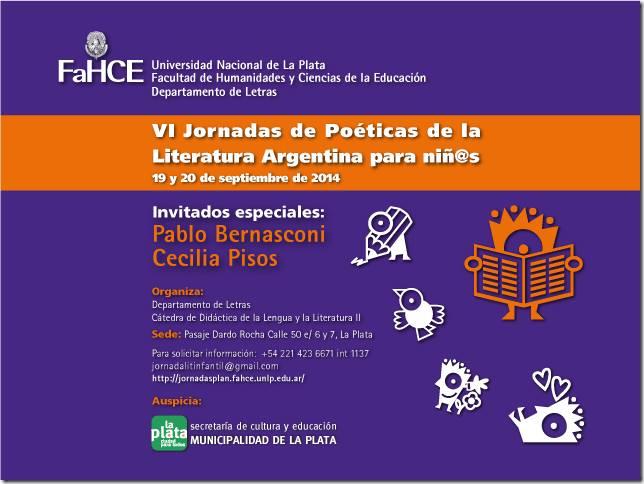VI Jornadas de Poéticas de la Literatura Argentina paraNiñ@s
