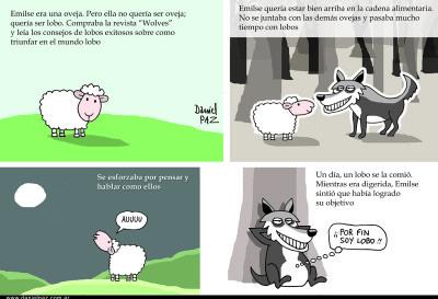 La oveja Emilse, por Daniel Paz